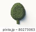 樹木で構成された樹木のシンボルマーク。3Dレンダリング。 80273063