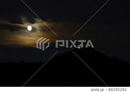 月と岐阜城 80295282