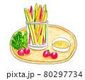 スティックサラダの手描きイラスト 80297734