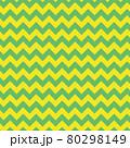 ギザギザ模様のシームレスパターン(グリーン、イエロー) 80298149