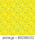 レモンイメージのドットシームレスパターン 80298152
