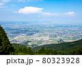 池田山パラグライダー発進基地からの遠景 濃尾平野 80323928