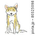 おすましして座る犬 80325098