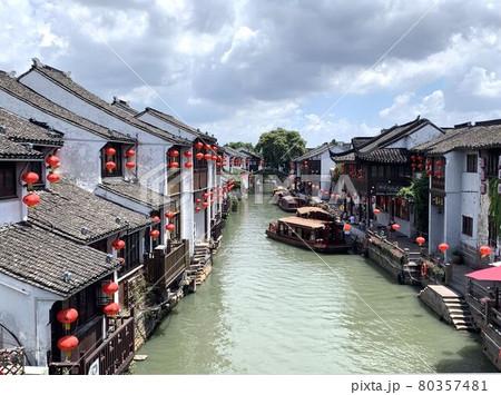 中国・蘇州の山塘街(サントウガイ) 80357481