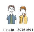 笑顔の男女カップル夫婦 80361694
