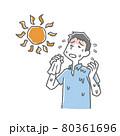 暑さで疲労する男性 80361696