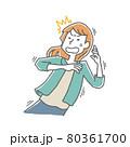 驚きおののく女性 80361700