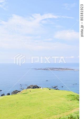 男鹿半島 入道崎から見た海 80381923