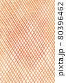 オレンジ色の温かい網模様のアナログ背景 縦 80396462