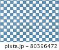 くすんだ青緑の市松模様背景 80396472