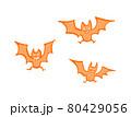 不気味なコウモリのイラストセット 80429056