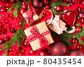 Monochrome red christmas lifestyle 80435454