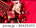 Monochrome red christmas lifestyle 80435455