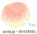 夏の果物(フルーツ):桃の水彩イラスト 80438081