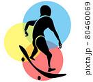 スケートボード シルエット 80460069