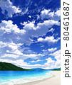 【縦長用】青空と雲08_山01_海10 80461687