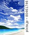 【縦長用】青空と雲09_山01_海10 80461746