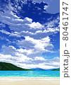 【縦長用】青空と雲09_山01_海07 80461747