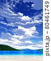 【縦長用】青空と雲09_山01_海08 80461749