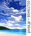 【縦長用】青空と雲09_山01_海09 80461750