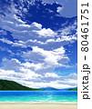 【縦長用】青空と雲09_山01_海06 80461751