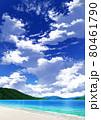 【縦長用】青空と雲10_山01_海09 80461790