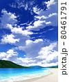 【縦長用】青空と雲10_山01_海10 80461791