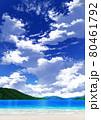 【縦長用】青空と雲10_山01_海08 80461792