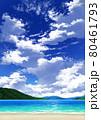 【縦長用】青空と雲10_山01_海06 80461793