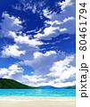【縦長用】青空と雲10_山01_海07 80461794