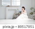 ブライダルイメージ ウェディングドレスを着た花嫁 80517051
