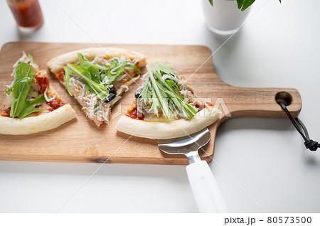 手作りシラスピザ追いピザ後乗せ水菜カット 80573500