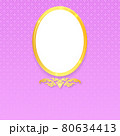 Thai pattern background with golden oval frame. 80634413