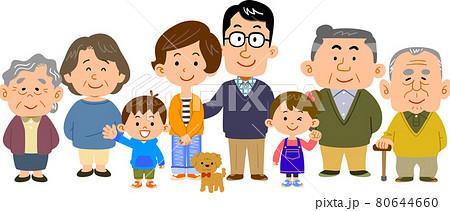 仲の良い四世代の家族 80644660
