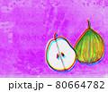 紫色背景の洋梨2 80664782