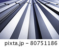 直線的な金属系サイディング(外壁) 80751186
