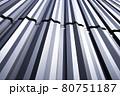 直線的な金属系サイディング(外壁) 80751187
