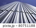 直線的な金属系サイディング(外壁) 80751188