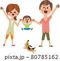 家族と犬 80785162