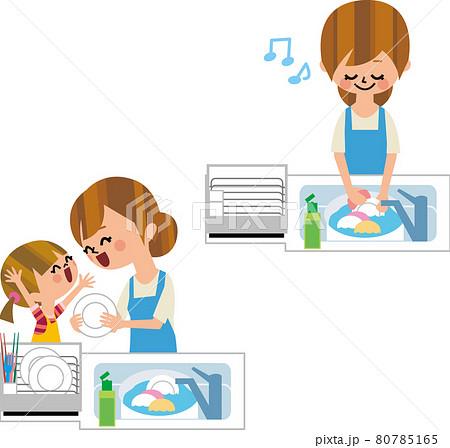 お手伝い、皿洗い 80785165