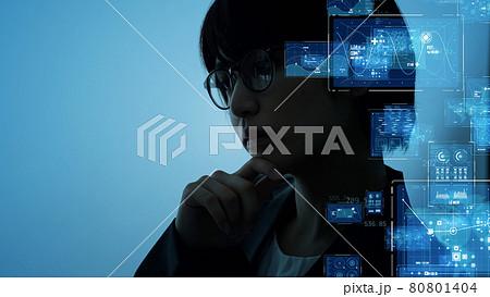 考える女性 サイエンステクノロジー 80801404