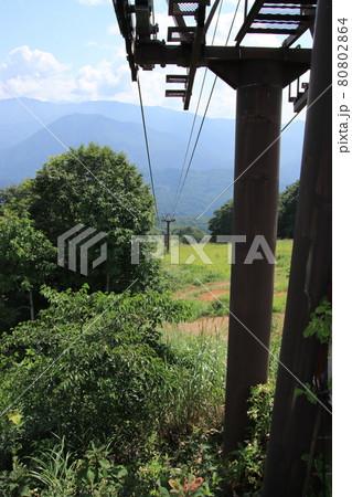 ロープウェイからの展望(長野県 白馬村) 80802864