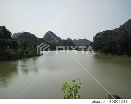 ベトナム情緒:タムコック郊外バードパークの風景 80805288