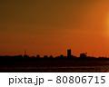 霞ヶ浦の夕景 80806715