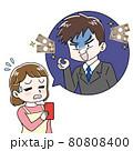 主婦を騙す詐欺師のイラスト 80808400