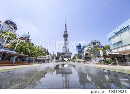 水鏡を見るレイヤード・ヒサヤオオドオリパークミズベヒロバ風景 80830328