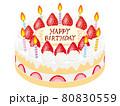 誕生日ケーキ 80830559