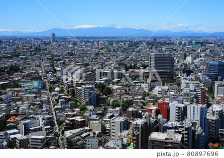 8月 世田谷909富士山と世田谷・キャロットタワー展望 80897696