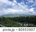 山梨の珍しい朝の雲。 80933907
