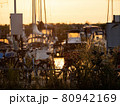 View of boats in the harbor 80942169
